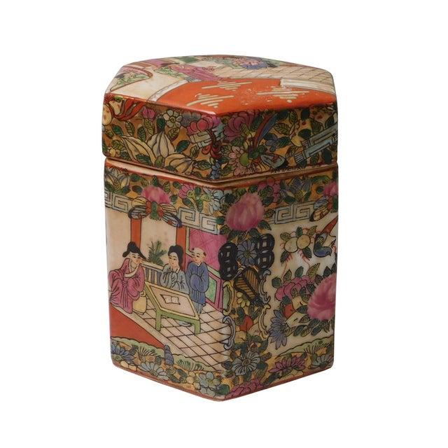 Chinese Decorative Porcelain Box - Image 3 of 6