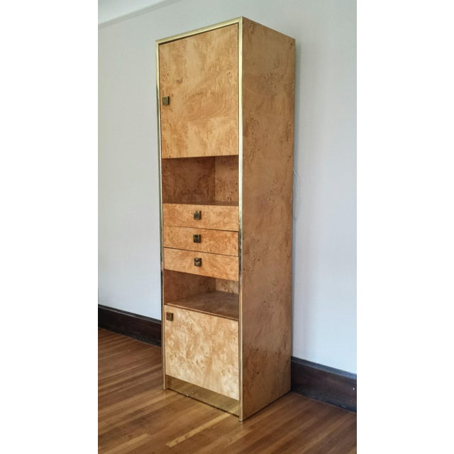 Founders Brass and Burl Storage Unit - Image 2 of 9