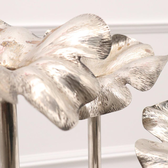 Metal 1960s Modernist Marilena Mariotto Silver Plated Vases - Set of 3 For Sale - Image 7 of 9