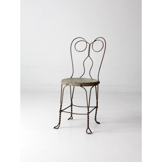 Art Nouveau Vintage Ice Cream Parlor Chair For Sale - Image 3 of 9