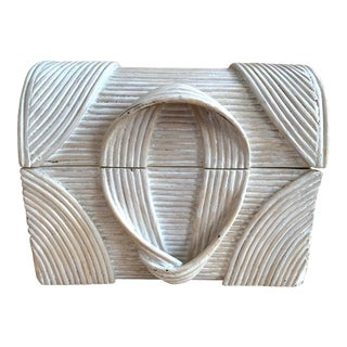 Betty Cobonpue Style Pencil Reed Box For Sale