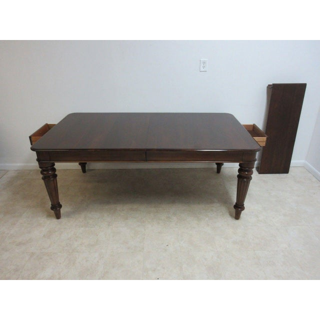 A Pennsylvania House Cortland Manor dining or conference table. Great shape... Shows age related wear... Some scratches...