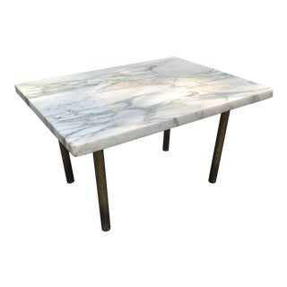 1960s Mid Century Modern Italian Marble Side Table For Sale