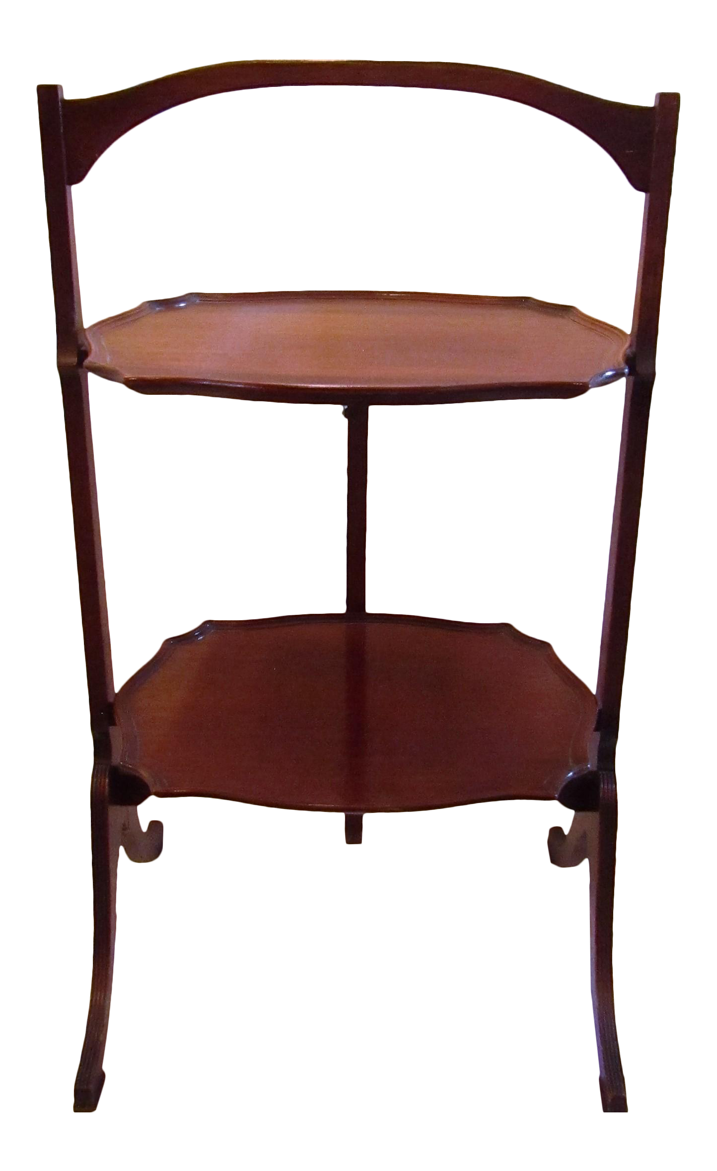 Antique Two Tier Folding Side Table