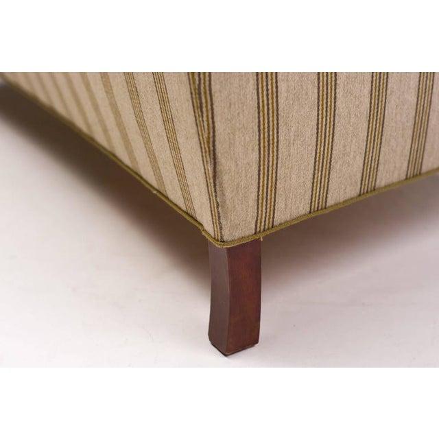 Tan Striped Wool Sofa Fritz Hansen, Denmark, 1940s For Sale - Image 8 of 10