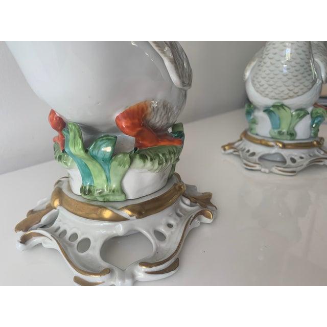 Manufacture de Sevres Mid 20th Century Sevres Porcelain Swans - a Pair For Sale - Image 4 of 12