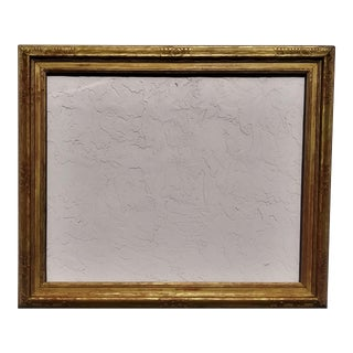 """Large 1920s Hand-Carved Arts and Crafts Period Frame Signed by F. X. Ferg 35 1/2"""" X 43 1/2"""" For Sale"""