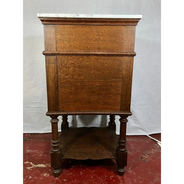 Pair of Oak Belgian 19th Century Side Tables For Sale - Image 4 of 13