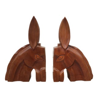 Art Deco Horse Head Bookends - A Pair For Sale