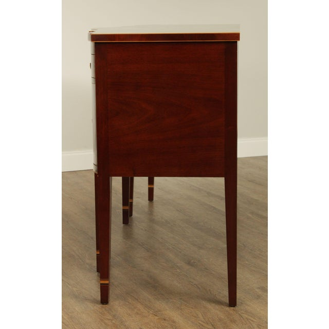 Wood Kindel Winterthur Collection Mahogany Inlaid New York Sideboard (C) For Sale - Image 7 of 13