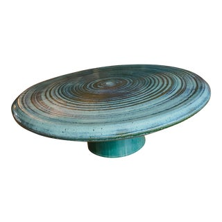 Vintage Hand Thrown Ceramic Pottery Coffee Table by Joel Cottet For Sale