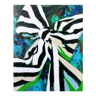 That 70s Bow Green Acrylic Painting
