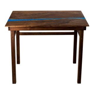 Classic Black Walnut Resin River Writing Desk