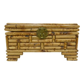 Decorative Bamboo Box With Metal Clasp For Sale