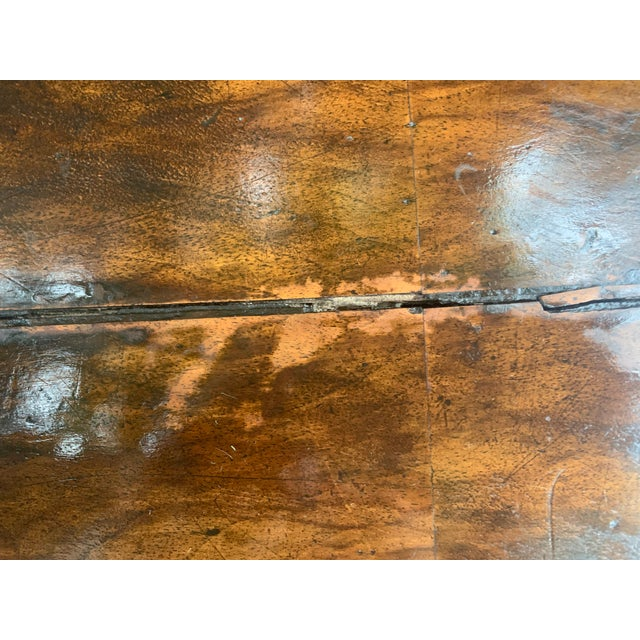 Traditional Oval Burled Walnut Veneer Coffee Table on Pedestal Base For Sale - Image 9 of 13