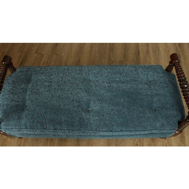 Antique 19th Century Bobbin Turned End of Bed or Window Bench For Sale - Image 12 of 13