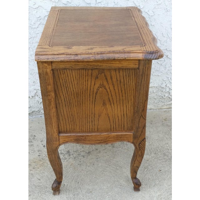 Country 20th Century French Provincial Oak Nightstand For Sale - Image 3 of 11