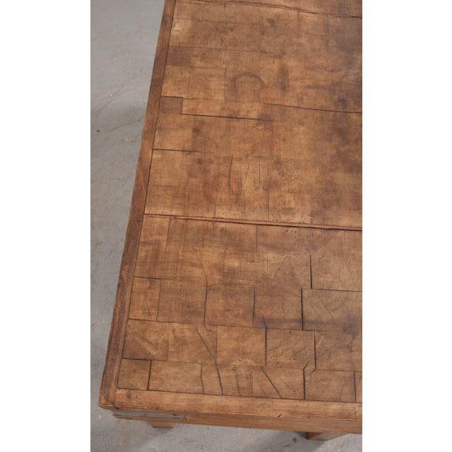 French Early 20th Century Art Deco Pine Butcher Block For Sale - Image 9 of 12
