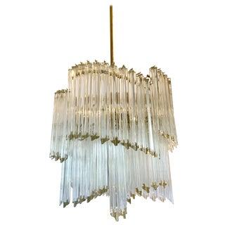 Mid-Century Modern Camer Murano Glass Immense Chandelier For Sale