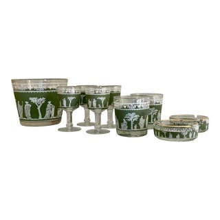 Mid 20th Century Wedgwood Jasperware Bar Set - 9 Pieces For Sale