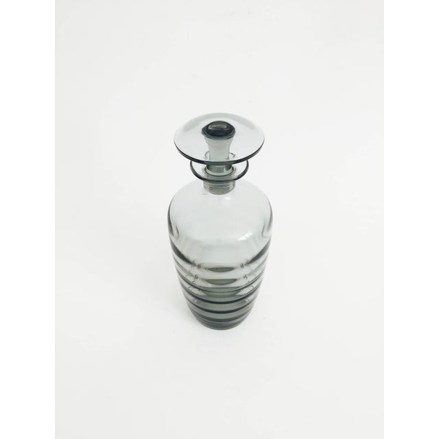 Mid Century Gray Smoke Glass Decanter - Image 2 of 6