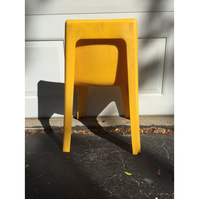Modern Yellow Child's Chair - Image 4 of 8
