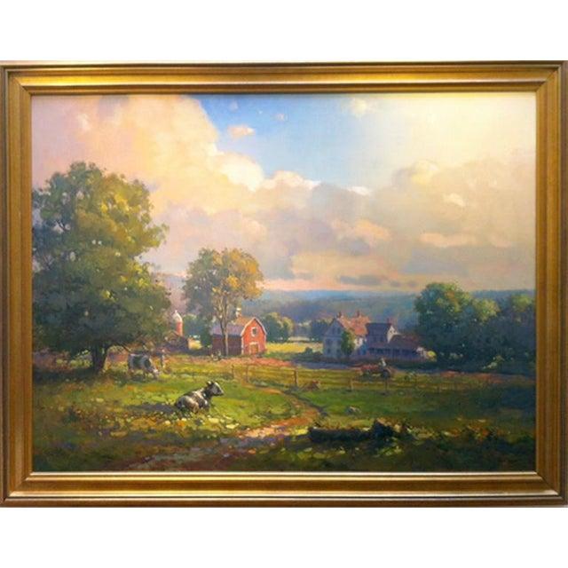 Impressionism John C. Traynor, New England Farm, 1991 For Sale - Image 3 of 9