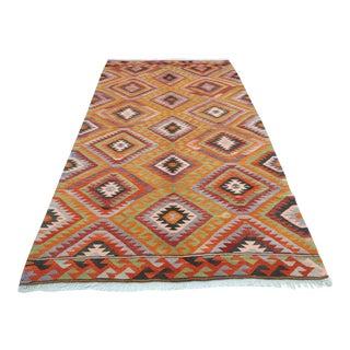 Vintage Turkish Barak Nomad's Handwoven Kilim Rug For Sale