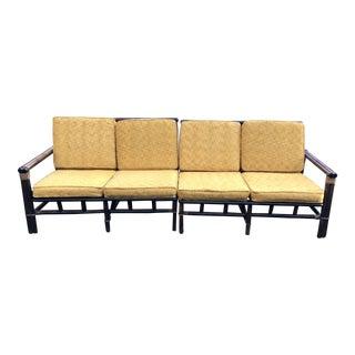1960s Vintage Ficks Reed for John Wisner Sofa - 2 Pieces For Sale