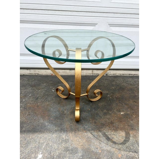 1970s Iron Gilt Side Table For Sale - Image 5 of 5