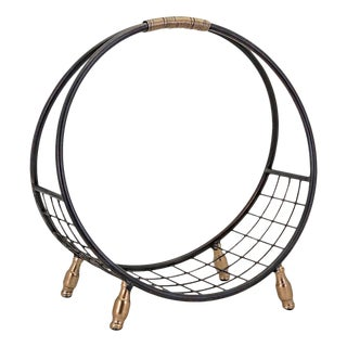 Iron Circular Loop Fire Log Holder