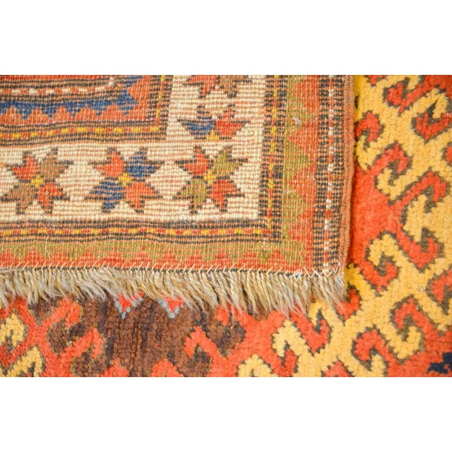 Early 20th Century Kazak Rug - 4′1″ × 5′7″ For Sale - Image 4 of 4