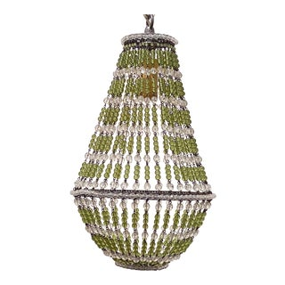 Empire Style Beaded Chandelier For Sale