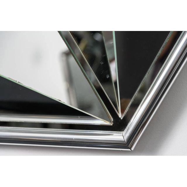 Polished Chrome Polygon Shaped Wall Mirror For Sale - Image 9 of 10