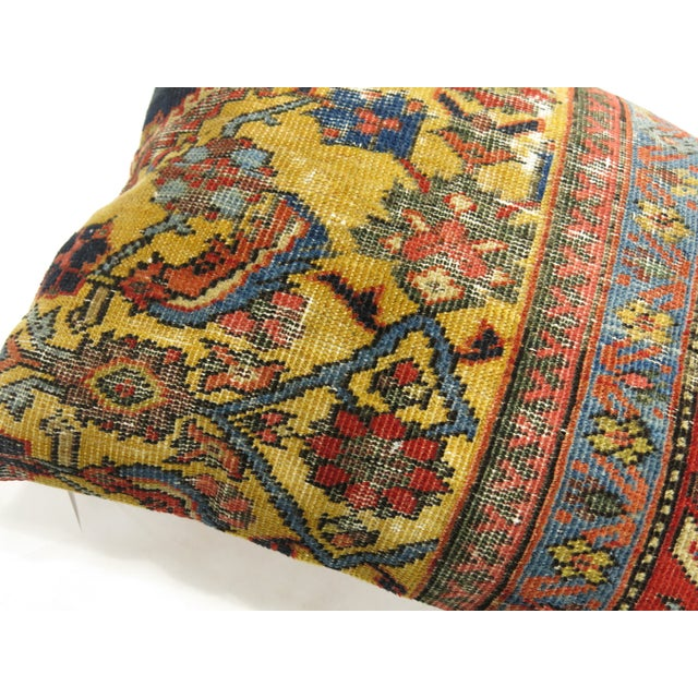 Mediterranean Mahal Rug Pillow For Sale - Image 3 of 4