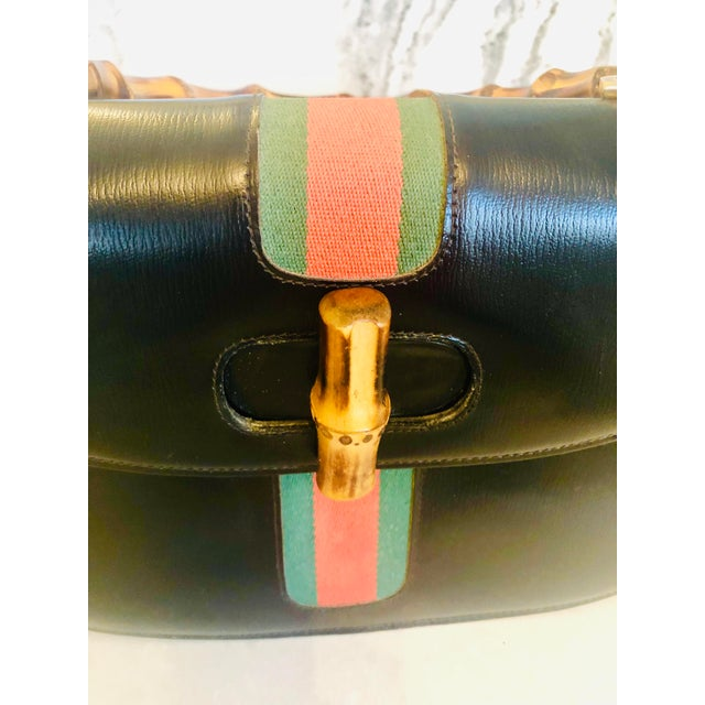 Black Gucci Private Label Purse Made for Saks Fifth Avenue -- Pics Added For Sale - Image 8 of 12