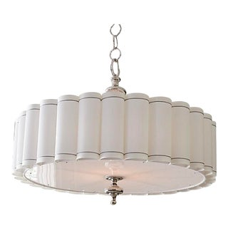 Global Views Enormous Fluted Pendant Chandelier For Sale