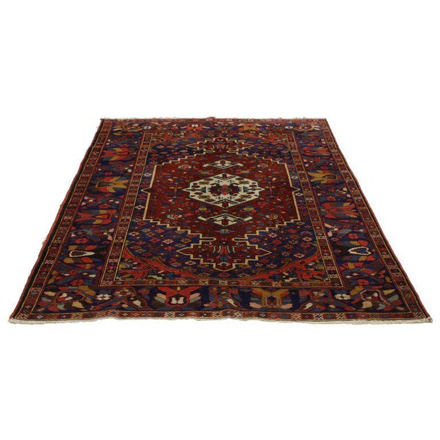 Asian Antique Bakhtiari Persian Rug with Traditional Modern Style For Sale - Image 3 of 8