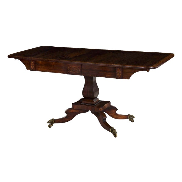 19th Century English Regency Antique Sofa Table For Sale