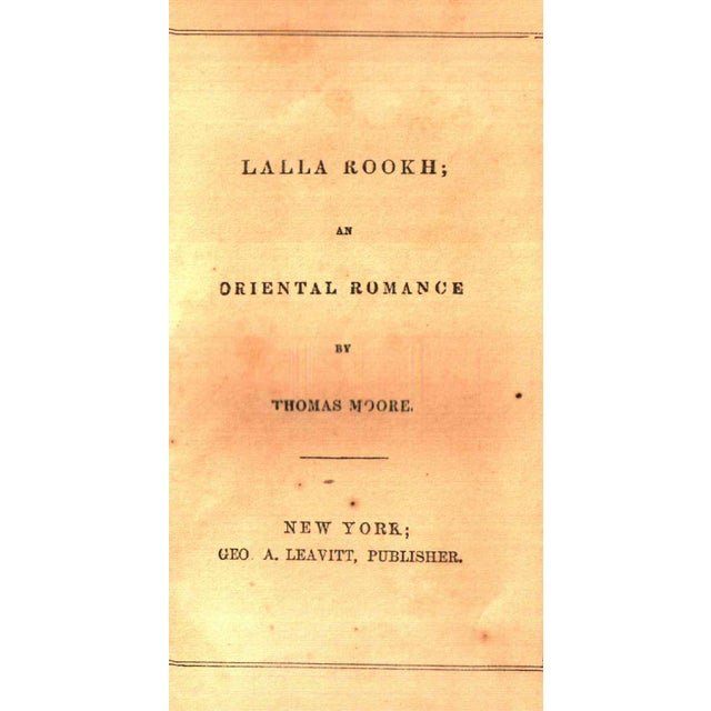 "Traditional 1823 ""Lalla Rookh: : An Oriental Romance"" Collectible Book For Sale - Image 3 of 5"