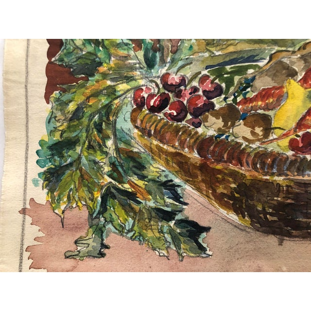1930 Vegetable Harvest Still Life by Olga Soliva For Sale - Image 4 of 5