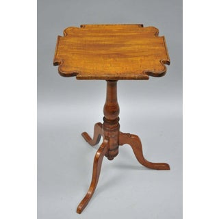 18th Century British Colonial Cherry Candle Stand Tea Table Preview