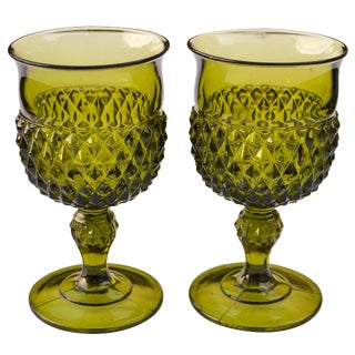 Midcentury Textured Glasses- S/2 For Sale