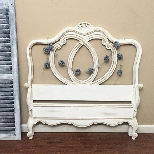 Vintage French Provincial Twin Size Bed - Image 3 of 7