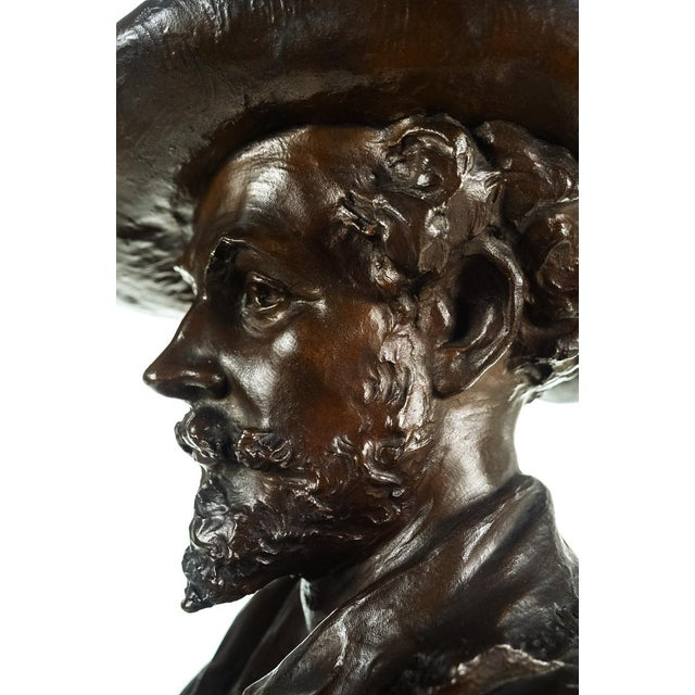 Rubens Bronze Bust Sculpture by H. Muller For Sale - Image 9 of 9