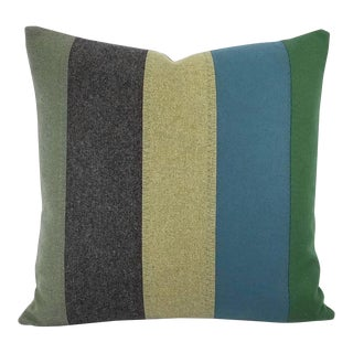 Kravet Couture New Suit Peacock Wool Handmade Accent Pillow Cover For Sale