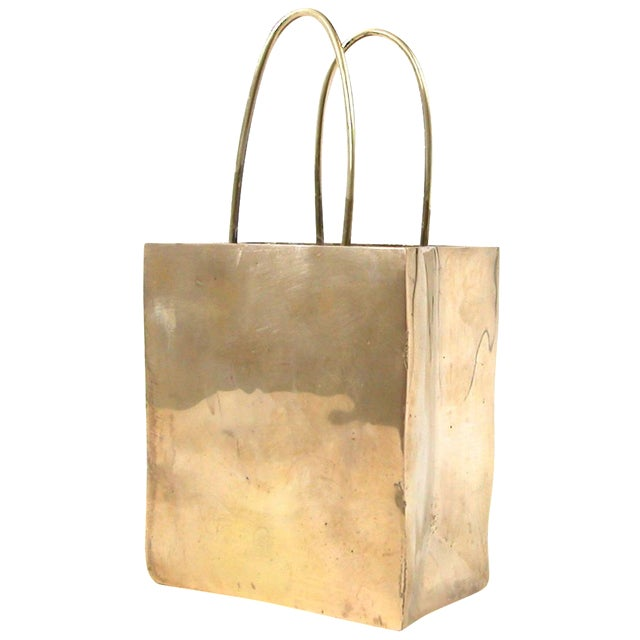 Brass Shopping Bag - Image 1 of 6