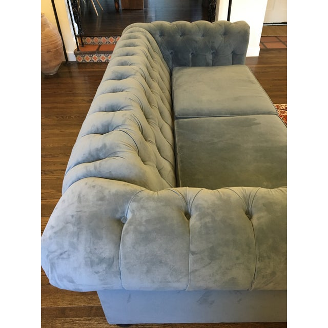 Blue Chesterfield Sofas - A Pair - Image 4 of 8