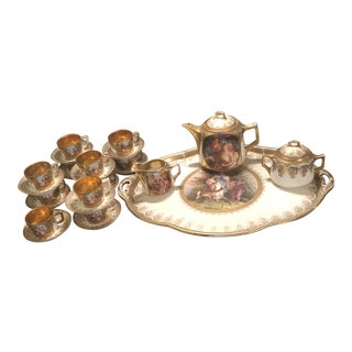 1860s Royal Vienna Holiday Coffee Service - 26 Piece For Sale
