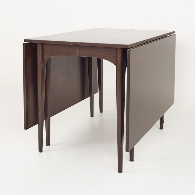 Mid-Century Modern Kroehler Refinished Mid Century Drop Leaf Dining Table For Sale - Image 3 of 12